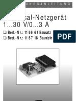 116661 as 01 de Universal Netzgeraet 30V 3A