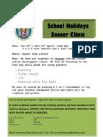 Cygnet Sea Dragons Soccer Skills Clinic