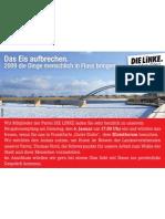 Anzeige DIE LINKE im Blickpunkt Januar 2009 (KW1)