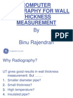 Computer Radiography for Wall Thickness Measurement
