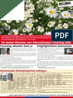 Anzeige DIE LINKE im Blickpunkt März 2009 (KW10)