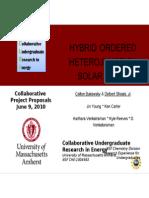 Hybrid Ordered Heterojuntion Solar Cells