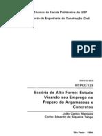 ESCÓRIA DE AF EM ARGS E CONCRETOS
