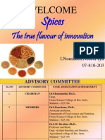 Spices - The True flavor of innovation