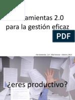 Herramientas 2.0 para la gestión eficaz