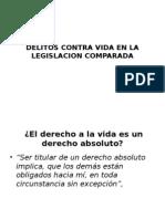 Delitos Contra Vida en La Legislacion Comparada