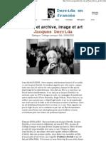 Trace Et Archive, Image Et Art