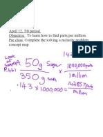 Part Per Million ppm Ch 132013