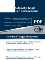 The Automatic Target Recognition in SAIP