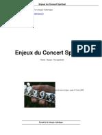 Enjeux Du Concert Spirituel