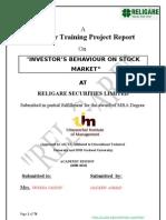 Investpror Behaviour in Stock Market