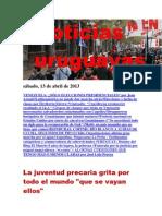 Noticias Uruguayas sábado 13 de abril del 2013