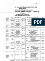 BAMU MBA April-May Exam Date Sheet