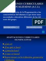 Adaptaciones Curriculares Individualizadas (A