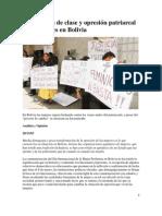 Explotación de clase y opresión patriarcal a las mujeres en Bolivia