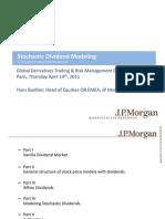 Modelling Dividends