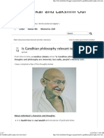 Is Gandhian Philosophy Relevant Today
