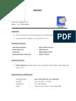 Aravinthv Resume