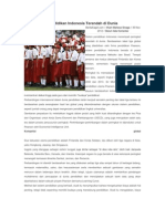 Pendidikan Indonesia Terendah Di Dunia