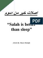 Salah is Better Than Sleep...