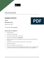 Business Statistics L2 Past Paper Series 2 2010