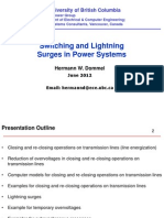 Electromagnetic Transient in Power System and Insulation Coordination Studies