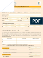 SMS Internet Banking Form