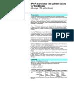 Advantys FTB - IP67 Distributed IO Catalogue