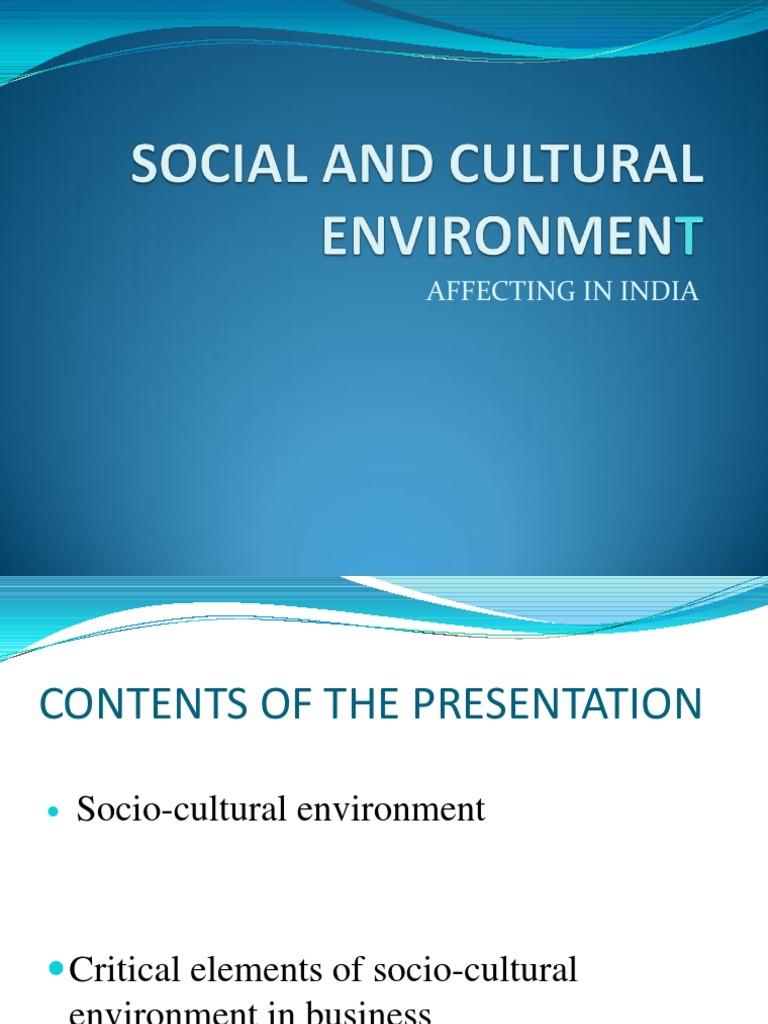 social or cultural environment