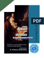 Antologia de poemas. Primeros modernistas