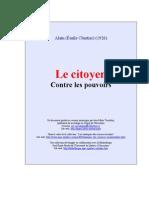 Alain - Le Citoyen Contre Les Pouvoirs