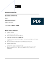 Business Statistics L2 Past Paper Series 4 2009