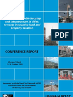 Financing Affordable Housing and Infrastructure in Cities Towards Innovative Land and Property Taxation