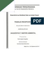 Desarrollo de Un Destilador Solar Con Lentes Fresnel