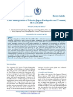 Crisis Management of Tohoku; Japan Earthquake and Tsunami, 11 March 2011