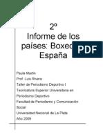 Informe sobre el Boxeo en España