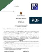 Ordinul Cu Privire La Inregistrarea Preturilor de Producator La Medicamente