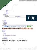 Comandos IP Relativos a Redes No Windows