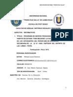 PROGRAMA DE GESTION EDUCATIVA EN HÀBITOS DE ESTUDIO Y CALIDAD EDUCATIVA(1)MAESTRIA