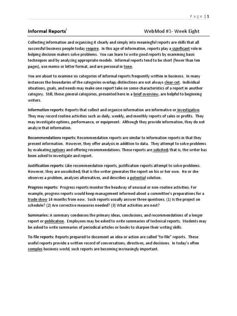 Informal reports memorandum survey methodology spiritdancerdesigns Choice Image