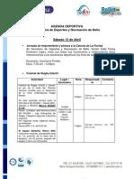 Agenda Deportiva 13 y 14 Abril 2013
