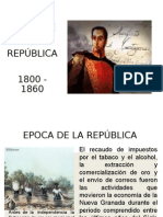 Epoca de La Republica 1800 - 1860 (h)
