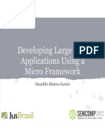 Developing Large Web Applications Using a Micro Framework