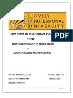 Term Paper of Mechanical Sciences