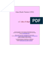 Alain - L'Idée d'objet