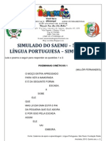 SIMULADO - 5º ANO - LÍNGUA PORTUGUESA - SIMULAÇÃO 3 - GABARITADO
