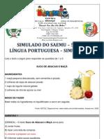 SIMULADO - 5º ANO - LÍNGUA PORTUGUESA - SIMULAÇÃO 7 - GABARITADO