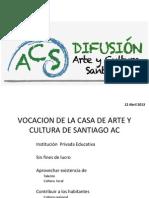VIVE LA VIDA de SANTIAGO Directores Colegios12abril2013