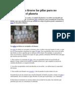Cómo deben tirarse las pilas para no contaminar el planeta.pdf