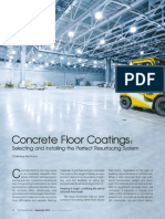 Article on 'Concrete Floor Coatings' by Chaitanya Raj Goyal